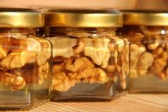 Choc 3 de miel Photographie stock libre de droits
