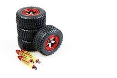 Choc-amortisseurs et roues Photographie stock