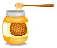 Choc avec du miel illustration libre de droits