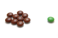Choc Beans 4 - The Outcast stock photography
