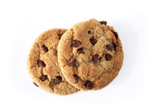 Choc Chip Cookies (path included) Royalty Free Stock Images