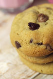 Choc chip cookies snack Stock Photography