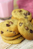 Choc chip cookies snack Royalty Free Stock Images