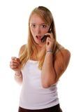 Choc de téléphone portable photographie stock libre de droits