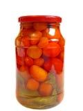 Choc de tomates marinées Images libres de droits