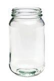 Choc en verre vide d'isolement sur un fond blanc Images libres de droits
