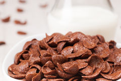 Choc flakes in a bowl, close up Royalty Free Stock Images
