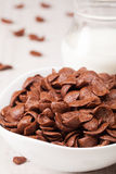 Choc flakes in a bowl, close up Royalty Free Stock Photos