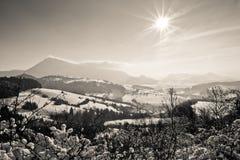 Choc Highlands (Chočské vrchy). Chočské Mountains is a low mountain range situated between the massifs of the West Tatras and Veľká Fatra. The dominant Stock Photo