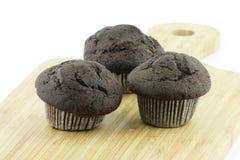 Choc muffin Arkivfoton