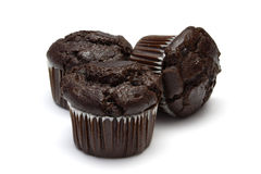 Choc Muffins Royalty Free Stock Photos
