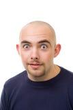 Choc unshawen o homem bold(realce) novo Imagens de Stock