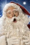 choc W de Santa de chemin de visage de découpage de Claus Images libres de droits