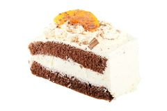 Chocalate and Cream Cake Stock Image