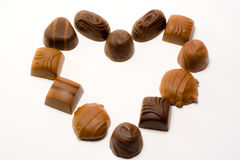 Chocalate Heart. Heart made out of pieces of chocolate Stock Images