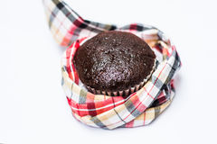 Choccolate babana cup cake isolate on white background Stock Images