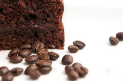 Chocholate cake with coffee beans Royalty Free Stock Photos