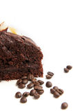 Chocholate cake with coffee beans Royalty Free Stock Images