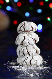 Chocholate crinkles for Christmas Royalty Free Stock Photos