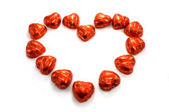 Chocholate heart Stock Photo