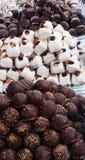 Chocholate marzipan balls Royalty Free Stock Photography
