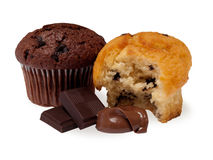 Chocholate muffins Stock Photography