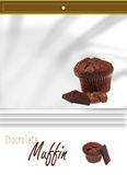 Chocholate muffins Stock Images