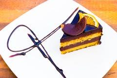 Chocholate orange cake. Stock Images