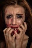 Chockad kvinna Royaltyfria Bilder