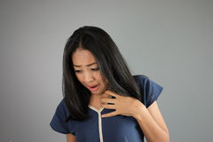 Chockasiatkvinna Royaltyfri Fotografi
