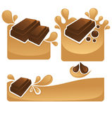 Chockolate and caramel Royalty Free Stock Photo