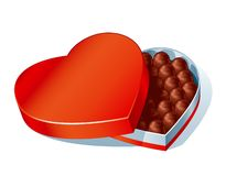 Chockolate heartbox Stock Images