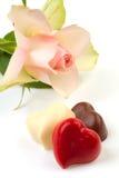 Choclates in vorm van harten Stock Foto