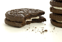 Choclolate Cookies and Crumbs Royalty Free Stock Photography