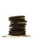 Choclolate Cookies and Crumbs Stock Photos