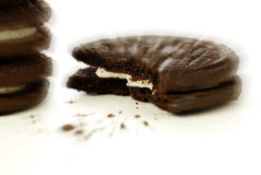 Choclolate Cookies and Crumbs Stock Photo