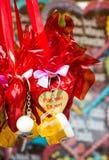 Choclolate serca sprzedający na Oktoberfest Zdjęcia Stock