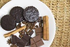 Choco用咖啡和桂香34 图库摄影