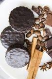 Choco用咖啡和桂香04 图库摄影