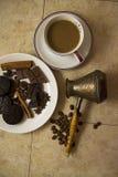 Choco用咖啡和桂香19 免版税图库摄影