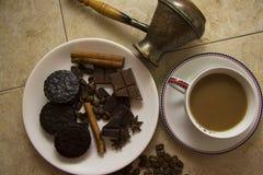 Choco με τον καφέ και την κανέλα 18 Στοκ εικόνα με δικαίωμα ελεύθερης χρήσης