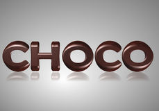 Choco слова Стоковая Фотография