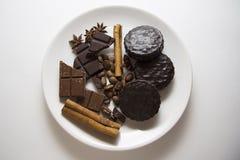 Choco avec du café et la cannelle 11 Photographie stock libre de droits