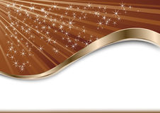 Choco background with stars Royalty Free Stock Photo