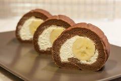 Choco Banana Swiss Roll Stock Photo