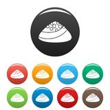 Choco bonbon icons set color stock illustration
