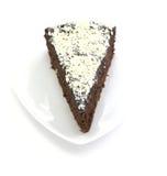 Choco Cake With White Chocolate On White Backgroun Royalty Free Stock Image