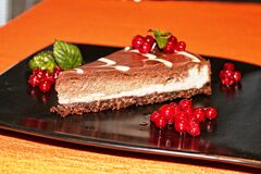 Choco cheesecake Royalty Free Stock Images