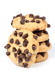 Choco chip cookies. Beautiful shot of choco chip cookies on white background Royalty Free Stock Photo