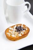 Choco Chip-Kuchen Lizenzfreie Stockbilder
